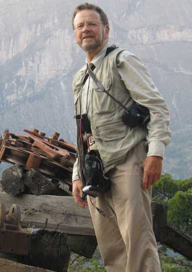 Simon Bearder in Mulanje Mountains, Malawi